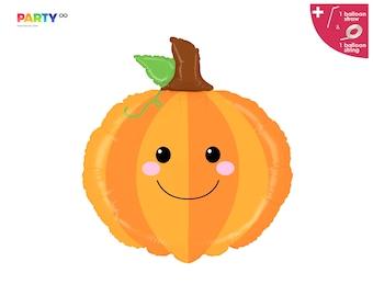 Pumpkin Balloon | Fall Themed Pumpkin Baby Shower Decorations | Little Pumpkin First Birthday Fall Halloween Balloon
