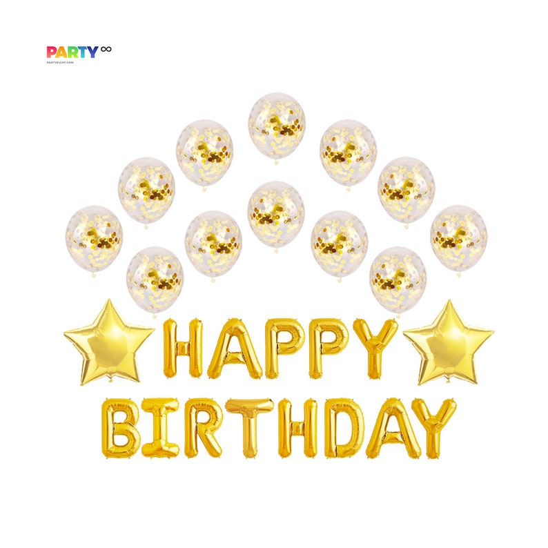 Confetti Birthday Decoration Set  16/20/21/25/30 Birthday image 0