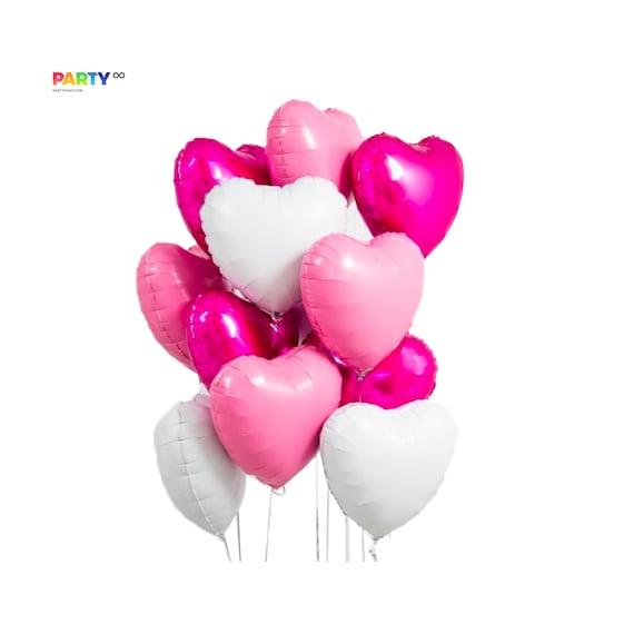 Valentine Balloons Happy Valentines Day Mylar Balloon Bouquet Kit Valentines Decorations Valentines Day Decor Confetti Balloons