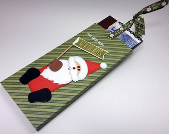 St. Nicholas case for cash or voucher gift with chocolate / money gift