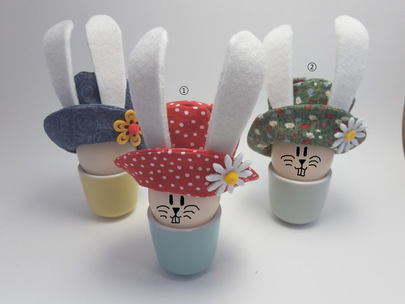 Easter bunny hats egg warmers for Easter breakfast image 0
