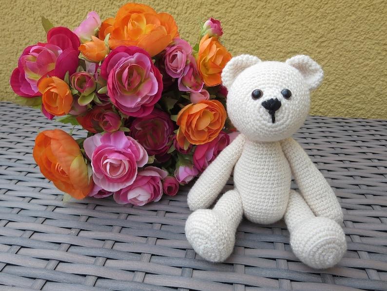 Amigurumi crochet teddy Luke 18 cm image 0