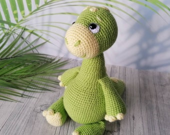 Dino Spike Crochet Cuddly Toy Handmade with Love Beautiful Gift for Birthday,Baby Party,Baptism or Any Other Occasion