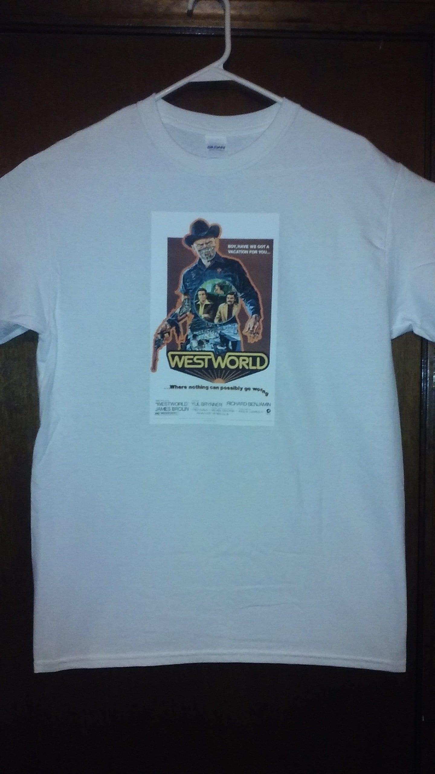 24ea6f5e734 1973 Westworld Horror Movie Poster T-Shirt