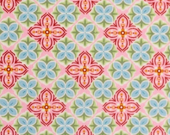 11.50 EUR/meter BW-Weaving with small flower ornaments, pink, Julia, 300432