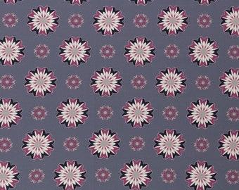 9.50 EUR/meter Kim, BW-weaving with flowers, 813183, 130g/square meter