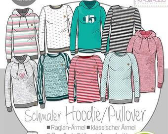 Women's Mix&Match Sweater/Hoodie size 32-58, Ki-ba-doo, paper cut pattern