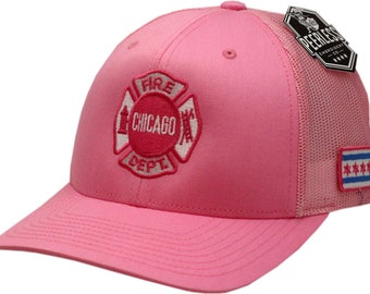 59ed54d0682 As Seen on TV Chicago Fire Department Pink Pink Trucker Mesh With Maltese  Logo One Size
