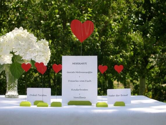 Tischkartenhalter Menükartenhalter Hochzeit Set