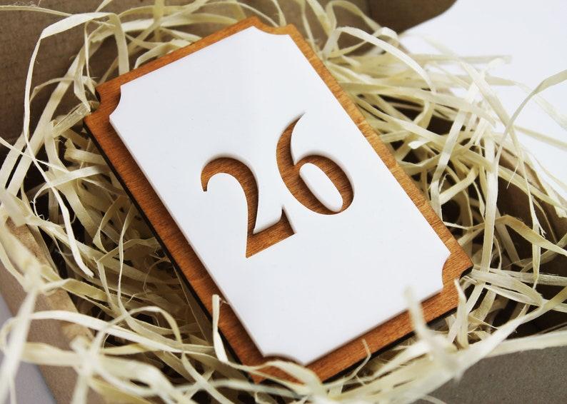 Elegant Door Numbers - Room Number - Apartment Numbers - Flat Sign Number