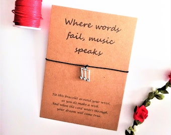 Music Note Bracelet Wish Gift Teacher Musical Gifts For Musician Lover