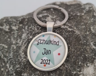 Schlüsselanhänger mit Namen Taschenbaumler Anhänger Junge//Mädchen Stern *
