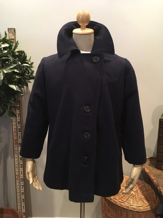 Vintage 1970s Military Navy Pea Coat