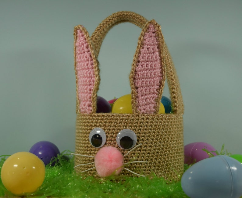 Easter Bunny Basket Crochet Pattern for boys or girls  image 0