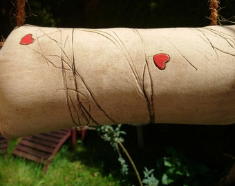 """Insect hotel made of ceramic """"Hearts"""""""