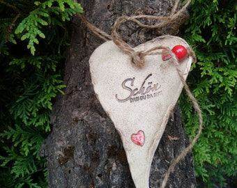 Ceramic Heart :Beautiful that you are there