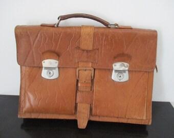 5f8644b2b3f19 Aktentasche antik schultasche tasche leder 1930 - Vintage