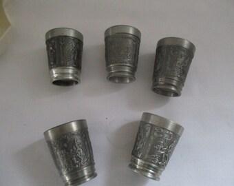 Zinn Metallobjekte Lovely Zinnbecher Schnaps