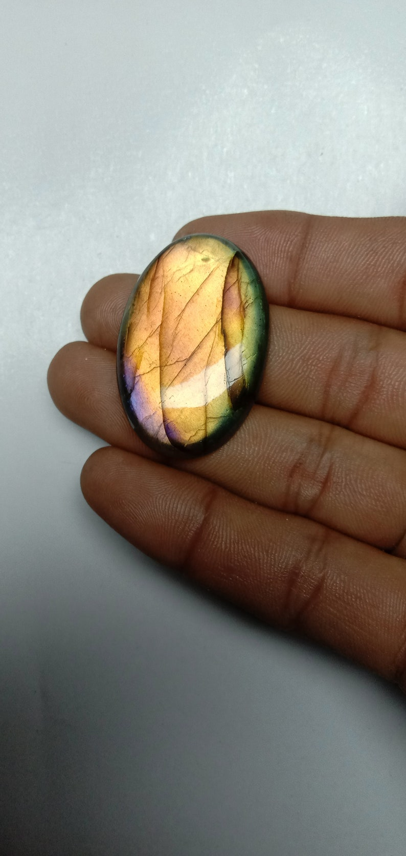 62.70 cts good quality natural Labradorite cabochons loose gemstone shape oval size 38x25x7mm free shipping