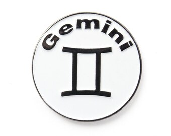 be1acebe92a Gemini Zodiac Astrology Lapel Hat Badge