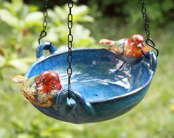 Garden decoration bird potions potted pottery