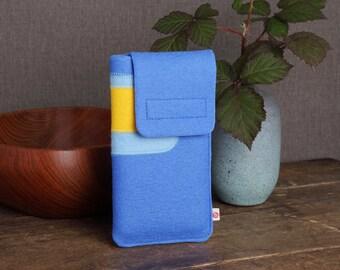 "Smartphone case ""Blue-Light Blue-Yellow"""