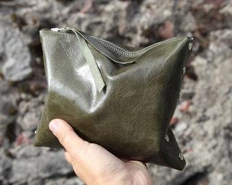 "Cosmetic bag ""Dark olive green"""