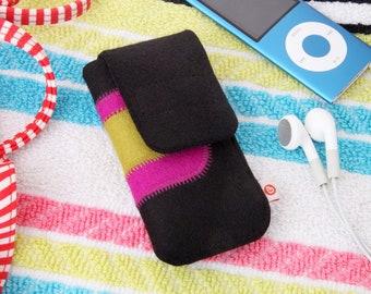 "mp3 player bag ""Black-Pink-Yellow-Green"""