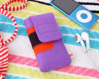 "mp3 Player Bag ""Purple Dark Orange Dark Purple"""