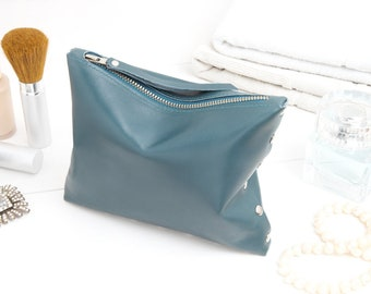 """Cosmetic bag """"Petrol blue"""""""
