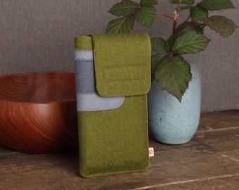 "Smartphone bag ""Hunter Green-Light Grey-Dark Grey"""