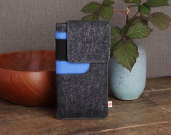 "Smartphone case ""Anthracite Blue-Black"""