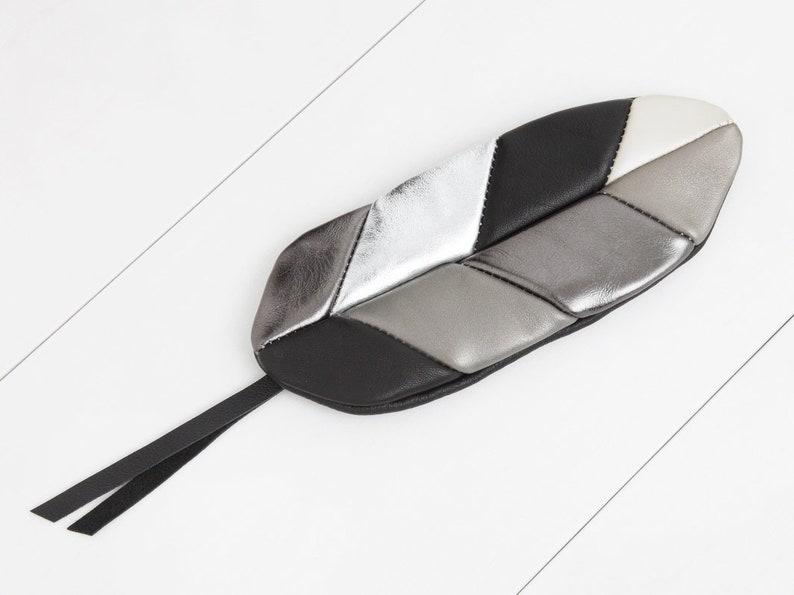 Feather Bag black-old silver-platinum-Silver image 0