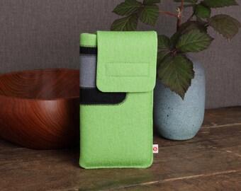 "Smartphone bag ""Green-Black-Grey"""