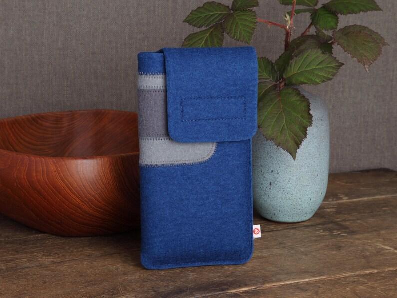 Smartphone case Indigo Blue-Grey-Dark Grey image 0