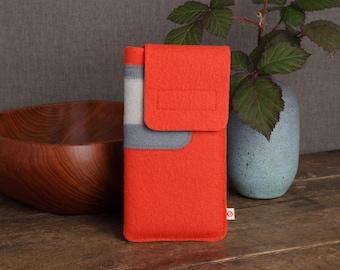 "Smartphone case ""Light red-grey-light grey"""