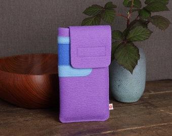 "Smartphone case ""Purple Light Blue Dark Blue"""