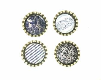 Blue Decorative Magnets   Fridge Magnets   Floral Magnets   Kitchen Magnets   Refrigerator Magnets   Kitchen Magnets   Magnets for Boards