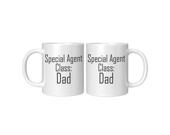 Special Agent: Dad White Mug