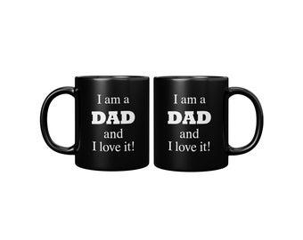 Love Being Dad Black Mug