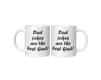 Dad Jokes White Mug