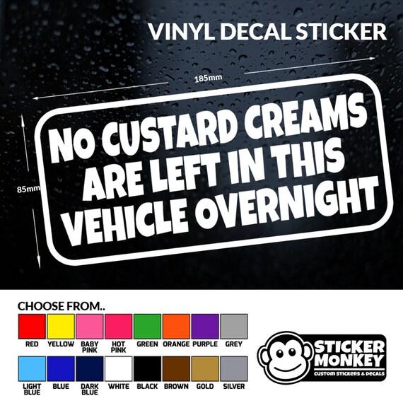 NO TOOLS ITEMS OF VALUE LEFT OVERNIGHT Sticker Vinyl Car Window Bumper Decor
