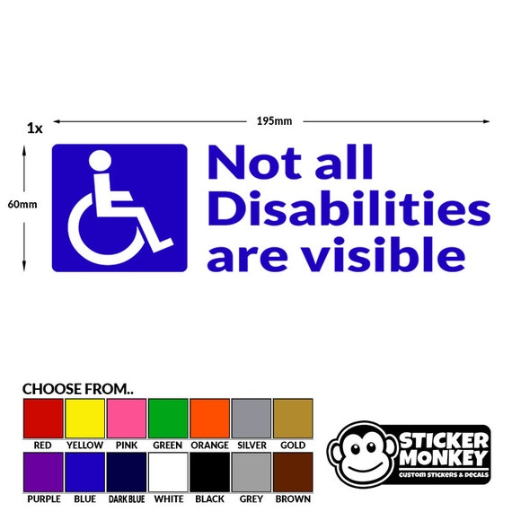 Handicap driver please stay back sticker window bumper decal warning car 3m hot