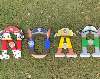 Paw Patrol Inspired Custom Wooden Letters
