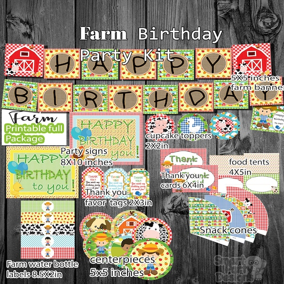 Food Signs Farm Party Farm Birthday Decorations Food Tents Farm Birthday Party Printables Bottle Labels Instant download