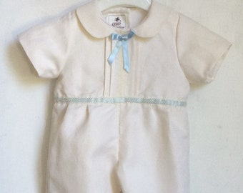 508499d0e102e christening romper suit boy summer baptism made in Italy NOA