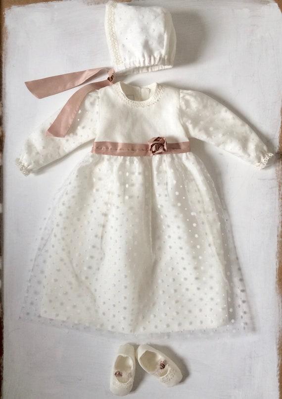Elena Taufkleid Festkleid Blumenmädchen Kleid Hochzeitskleid Gr 74-104