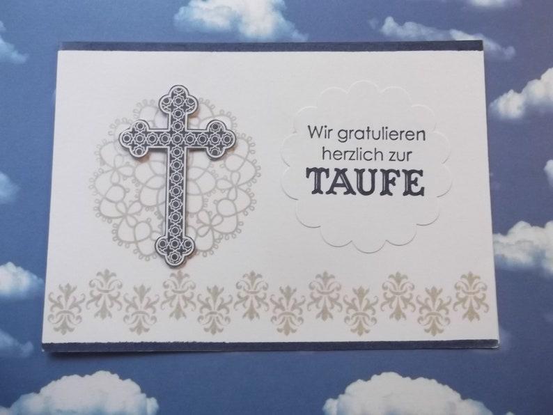 Baptism card for boysmap for baptism /& Envelope