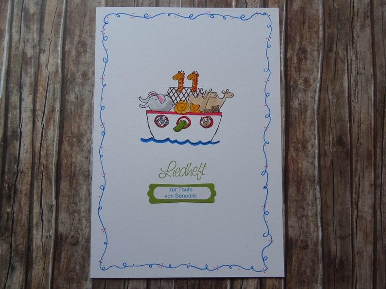 3 LiedhefteChurch booklets for baptism-Noah/'s Ark