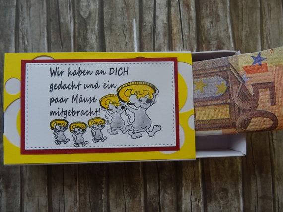 Lustiges Geldgeschenk Geschenkbox Geburtstag Weihnachten Mause Etsy